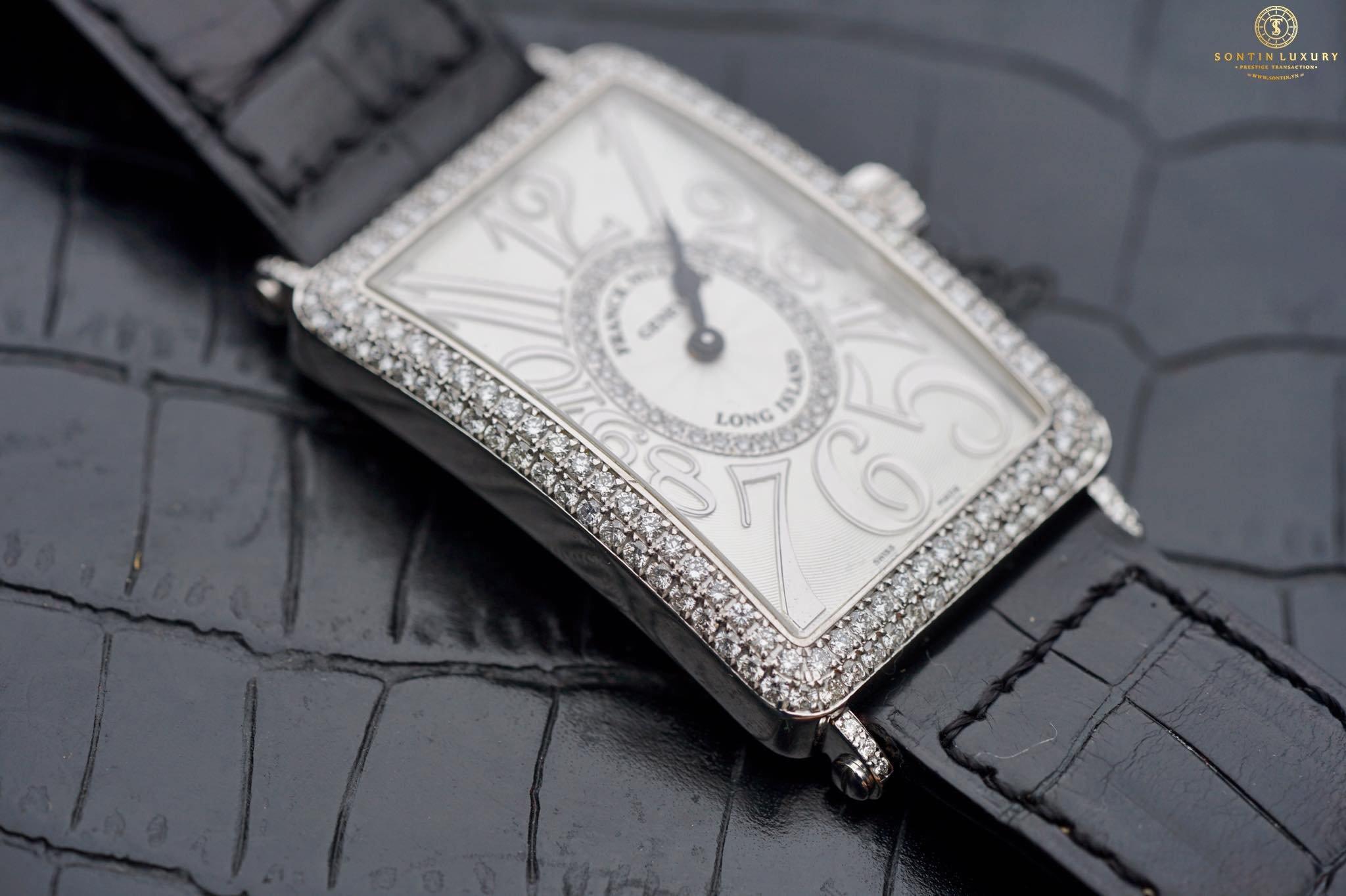 Franck Muller Long Island 1000Qz D CD 1R White Gold Original Diamond