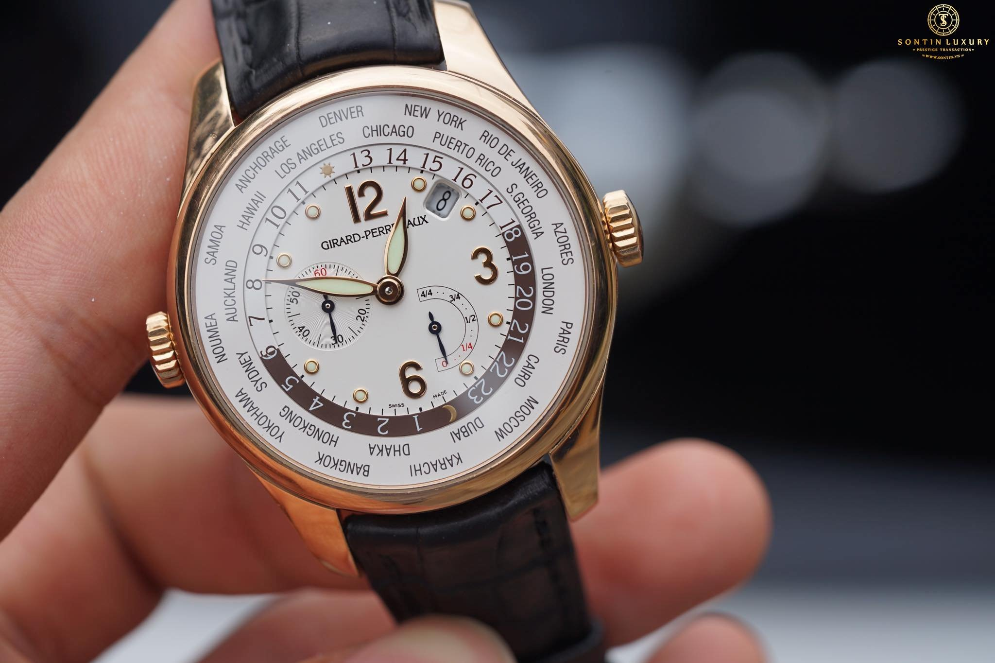 Girard Perregaux World Timer Rose Gold Like New