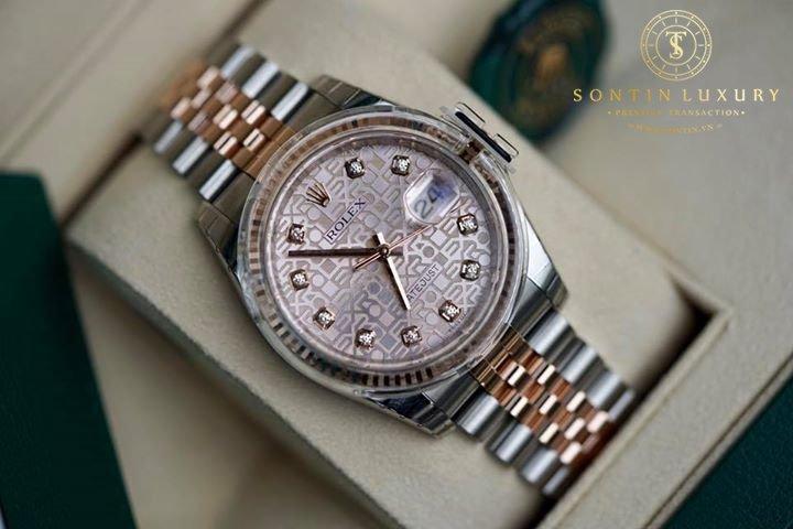 Rolex Datejust 116231 Demi Rose Gold New 2017