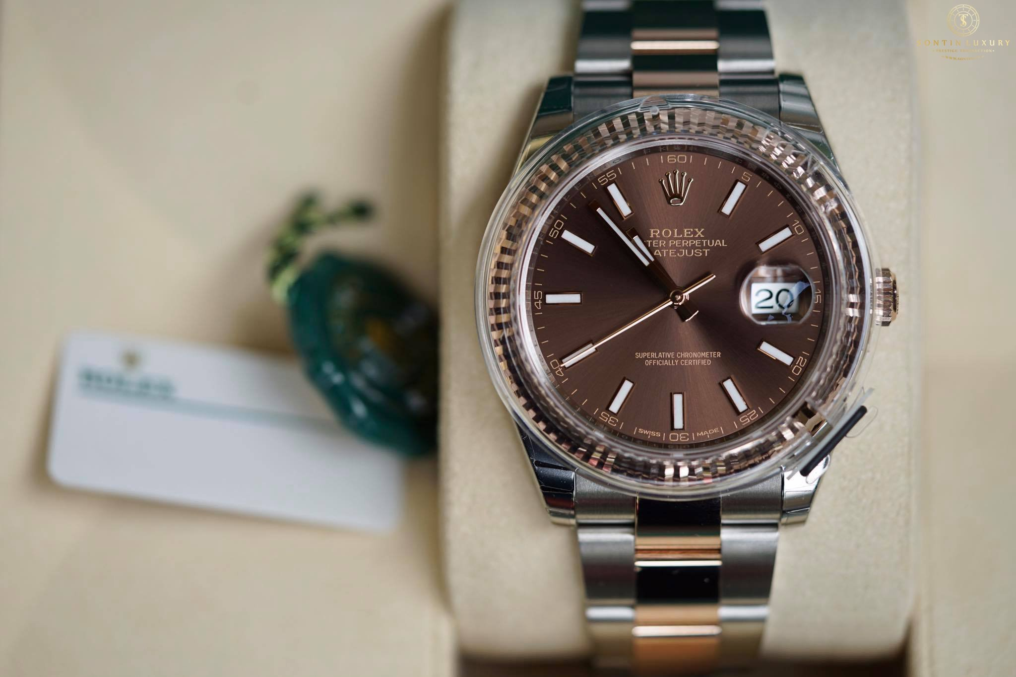 Rolex Datejust 126331 Demi Rose Gold Chocolate Dial 41mm New 2017
