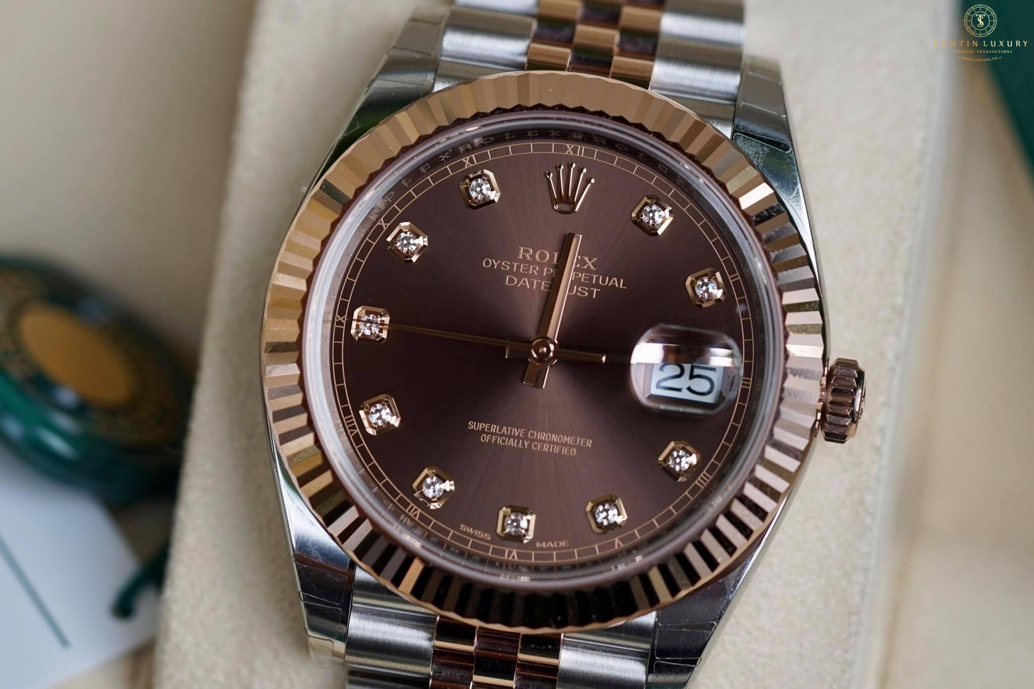 Rolex Datejust 126331 Demi Rose Gold 41mm New 2017