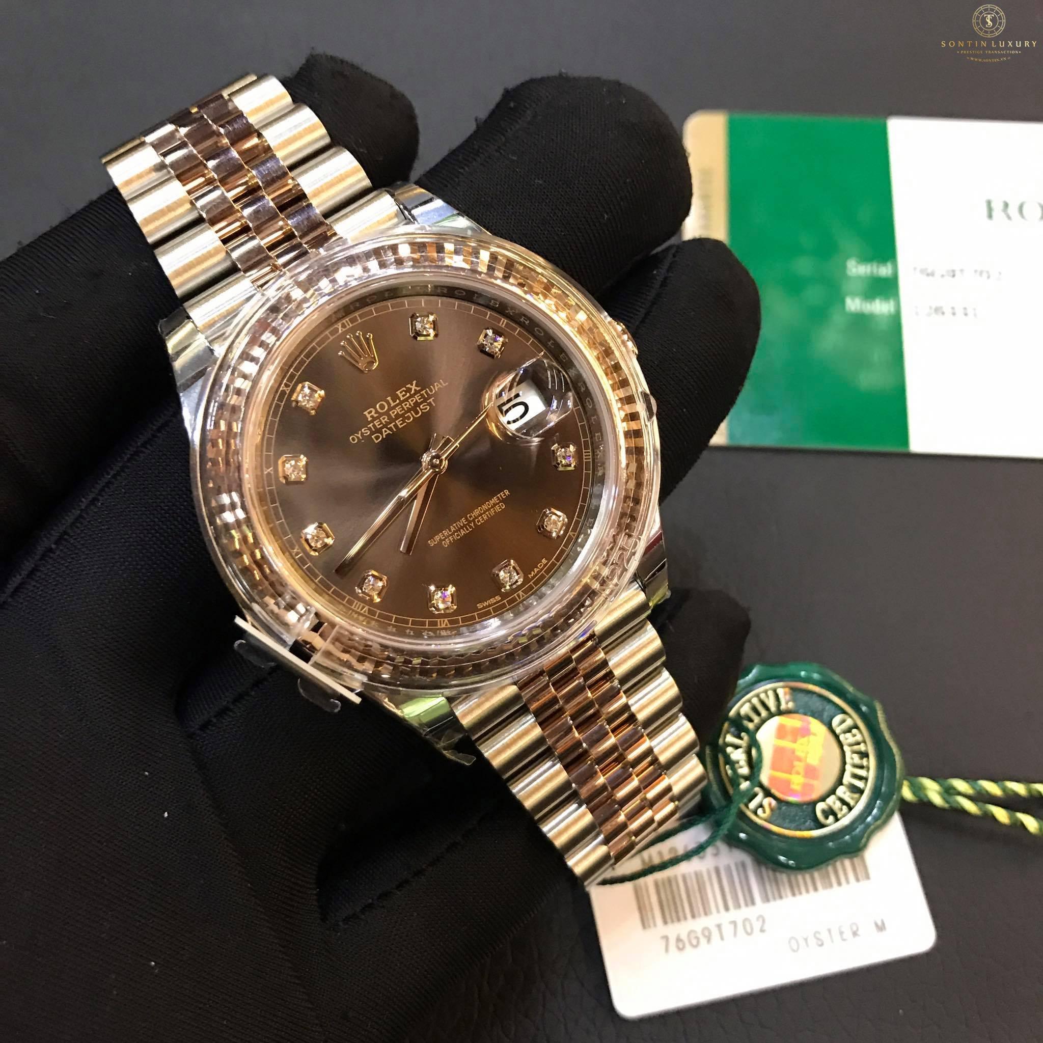Rolex Datejust 126331 Demi Rose Gold New 2017