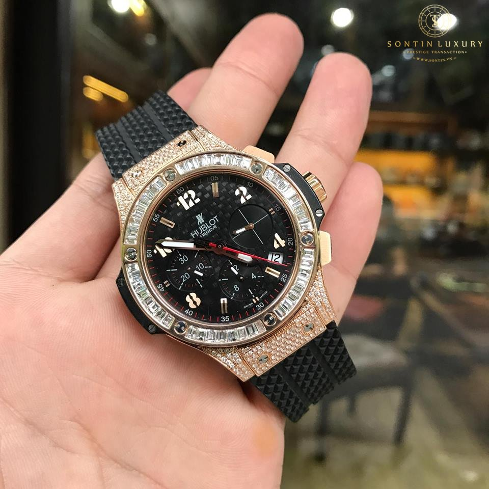 Hublot Bigbang Rose Gold Custom Baguette Diamond