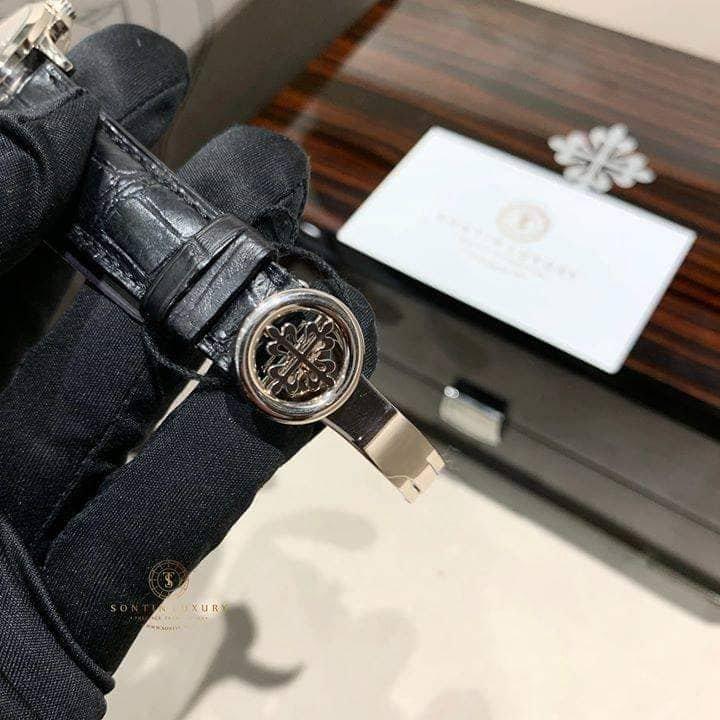 Patek Philippe  Chronograph, Bregut Numerals, Black Dial 5170G-010,