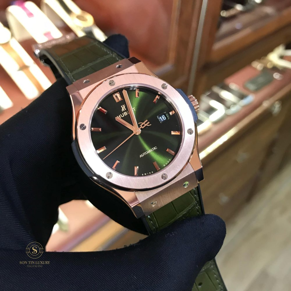 Hublot Classic Fusion King Gold Green Dial - New 100 %