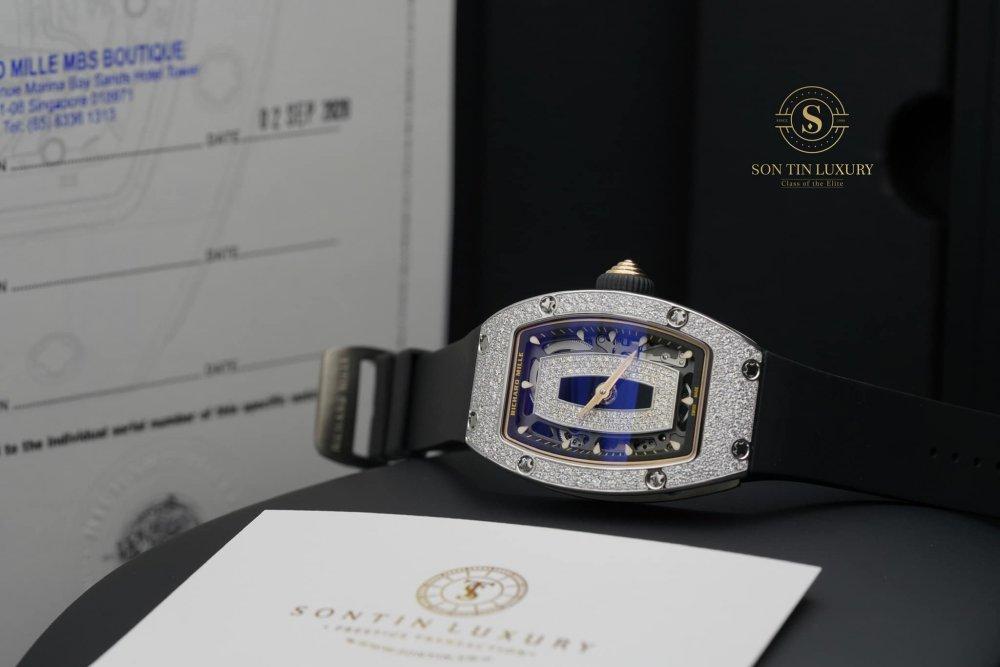 Richard Mille RM07 White Gold Snow Setting Diamond New 2020