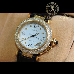 Cartier Yellow Gold Custom Diamond