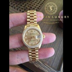 Rolex Ladies Datejust 69178  Yellow Gold Diamond Benzel