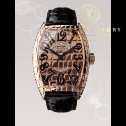 Franck Muller Gold Croco 8880 SC Rose Gold