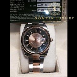 Rolex Datejust 116201 Demi Rose Gold