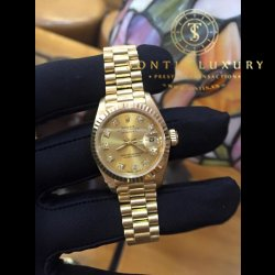 Rolex DateJust Yellow Gold 5 số nữ 69178 zin 100%