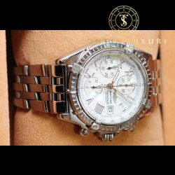 Breitling Chronograph Steel White Dial