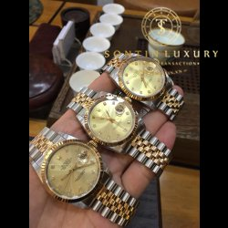 Rolex DateJust 16233 Demi Yellow Gold