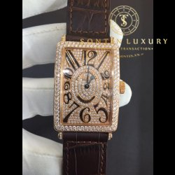 Franck Muller Long Island 1000 SC Rose Gold Custom Diamond