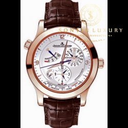 Jaeger LeCoultre Master Control Master Geographic Rose Gold Like New Full Set