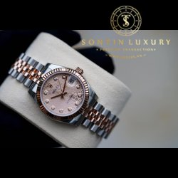 Rolex DateJust 178271 Demi Rose Gold 31mm New 100%