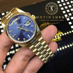 Rolex Daydate 18238 Yellow Gold Blue Dial 36mm