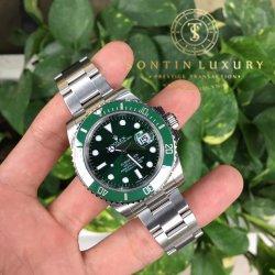 Rolex Submariner 116610 Stainless Steel Green Dial Like New - Full Box
