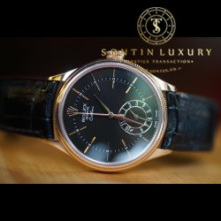 Rolex Cellini Dual Time 50525 Rose Gold Like New 39mm