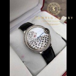 Cartier Ballon Bleu Steel Custom Diamond - Mặt báo tuyệt đẹp - 36mm - Like New