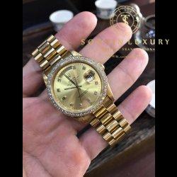 Rolex Day Date 18238 Yellow Gold 36mm Custom Diamond