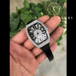 Franck Muller Vanguard V32 Steel Full Diamond New 2018