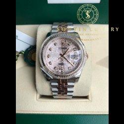 Rolex Datejust 116231 Demi Rose Gold 36mm New 100% - Full Box