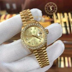 Rolex Datejust 69178 Yellow Gold Custom Bezel Diamond