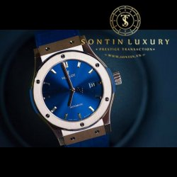 Hublot Classic Fusion Rose Gold Navy Dial 42mm New 2017