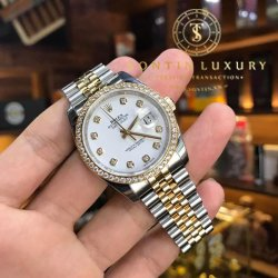 Rolex Datejust 116243 Demi Gold Bezel Diamond