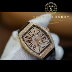 Franck Muller V41 Rose Gold Custom Diamond New 2017