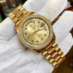 Rolex Daydate 118238 Yellow Gold Option Diamond