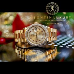 Rolex Daydate 118238 Yellow Gold Option Custom Diamond Like New