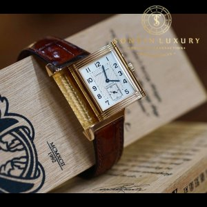 Jaeger-LeCoultre Reverso Duo Face Night and Day 18ct Rose Gold Watch