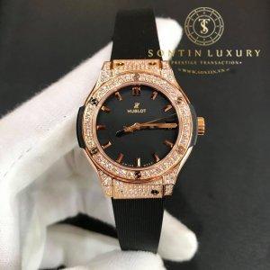 Hublot Classic Fusion King Gold Pave Diamond New 2018
