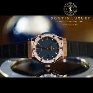 Hublot Classic Fusion Rose Gold Diamond 42mm New 2018