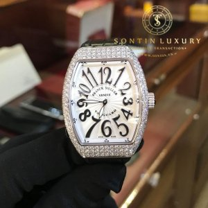 Franck Muller Vanguard V32 Diamond Ladies Watch New 100%