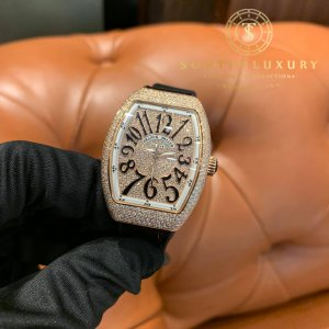 Franck Muller Vanguard V32 Custom Full Diamond New 100%