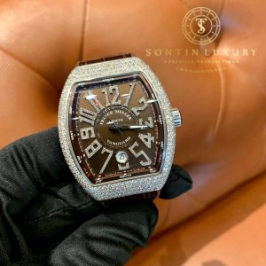 Franck Muller Vanguard V41 New Design Chocolate Dial Custom Diamond New 2019