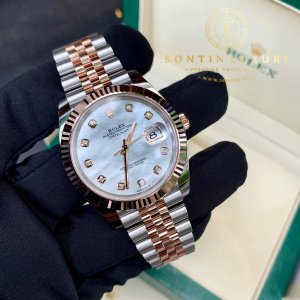 Rolex Datejust 126331 Demi Rose Gold Mother Of Pearl 41mm New 2019