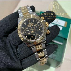 Rolex Daytona 116523 Watch with 18k Yellow Gold, Stainless Steel Bracelet and 18k Yellow Gold Bezel