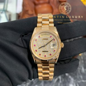 Rolex DAY-DATE 36mm Yellow Gold Champagne Diamond