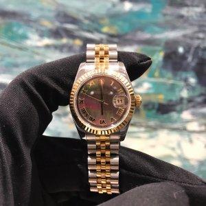 Rolex Lady Oyster Perpetual Black/18k rose gold Ø26 mm - 179171